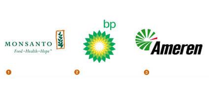 グリーンがモチーフのロゴ達