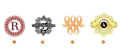 透かし細工の様なロゴ