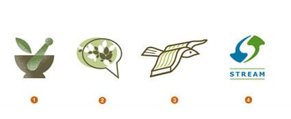 エコでスマートなロゴ