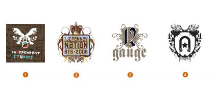 紋章風のロゴ