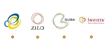 輪ゴムのようなロゴデザイン