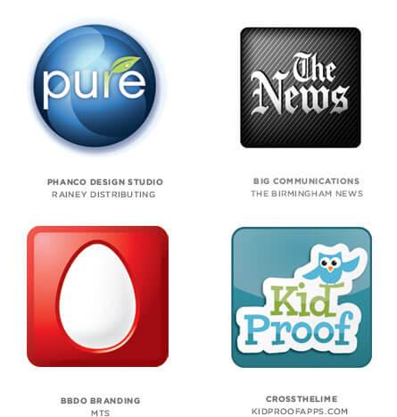 アプリ状のロゴ
