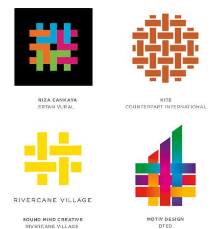 織物風ロゴ