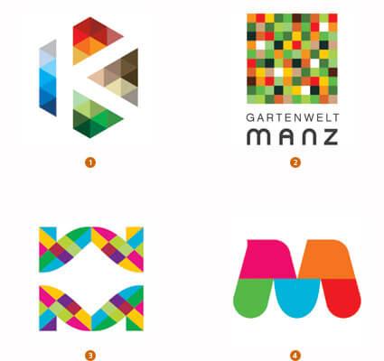 モザイク状のロゴ