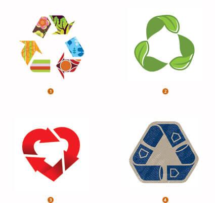 リサイクルマークのようなロゴ