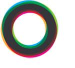 色付き円のロゴ