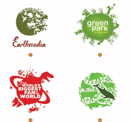 地球を模したロゴ