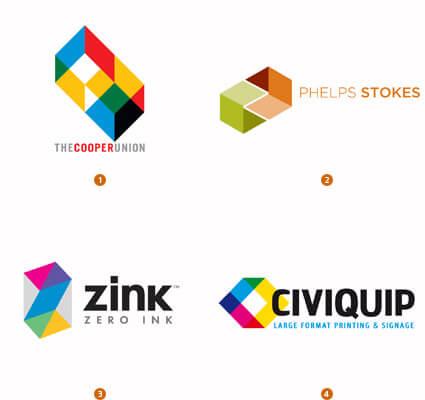 六面体で構成されたロゴ