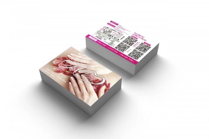 ネイルサロン_二つ折りショップカードデザイン2