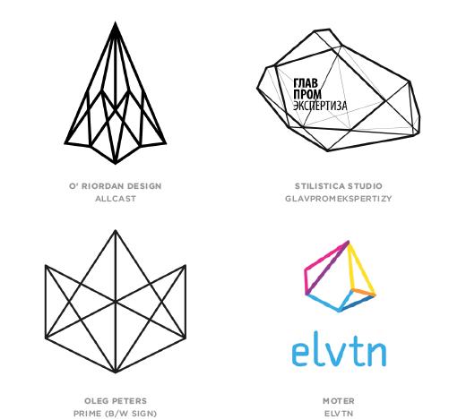 幾何学ラインのロゴ