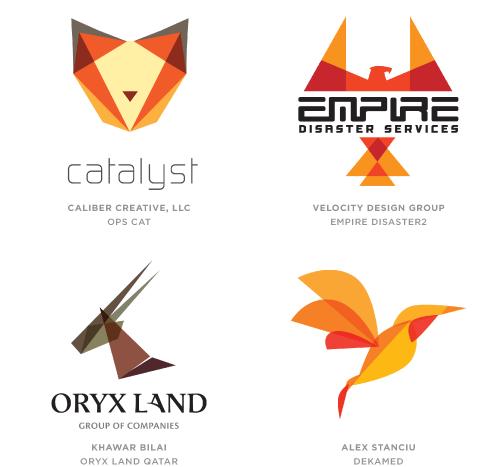 幾何学的動物ロゴ