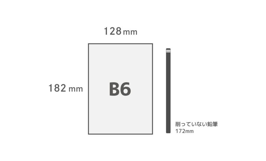 B6用紙サイズ比較