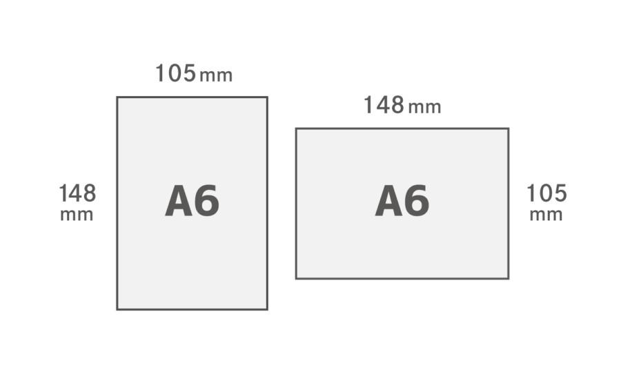 A6用紙サイズ