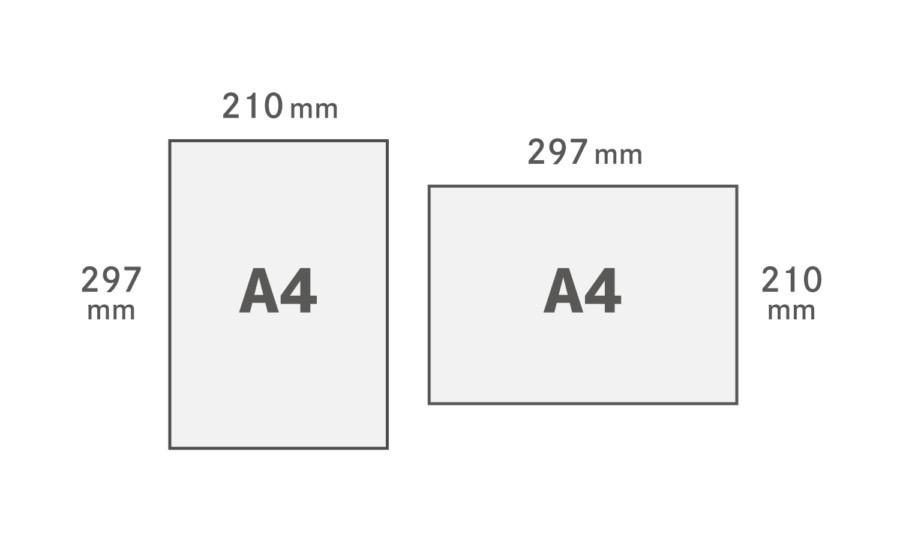 A4用紙サイズ