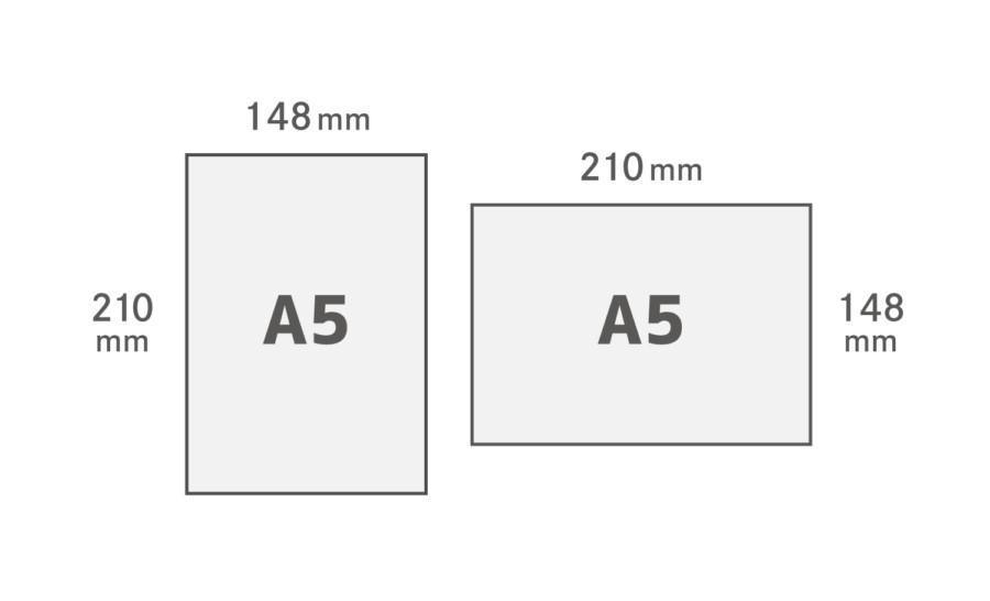 A5用紙サイズ