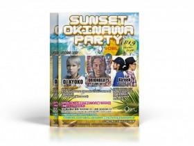 沖縄をテーマにしたイベントチラシ
