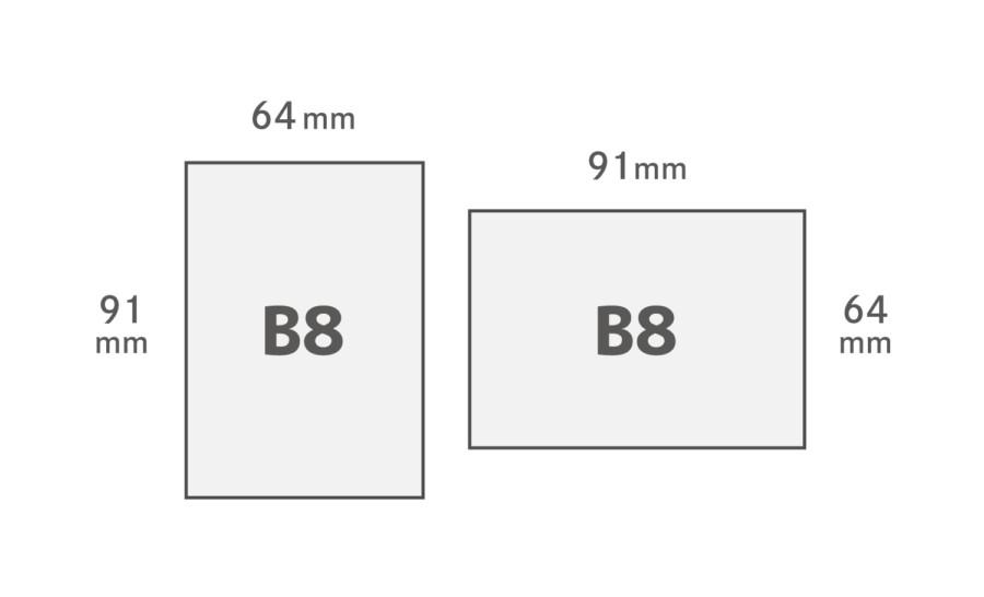 B8用紙サイズ