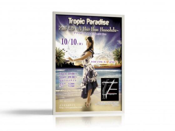 ハワイアンコンサートのポスター