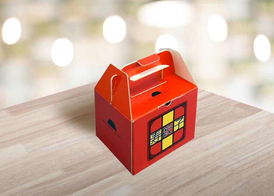 餃子の商品パッケージデザイン作成例