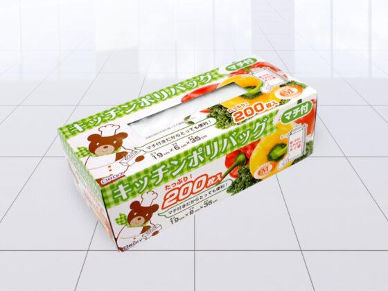 台所用品のパッケージデザイン作成例