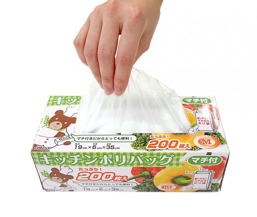 キッチン用ポリ袋のパッケージデザイン