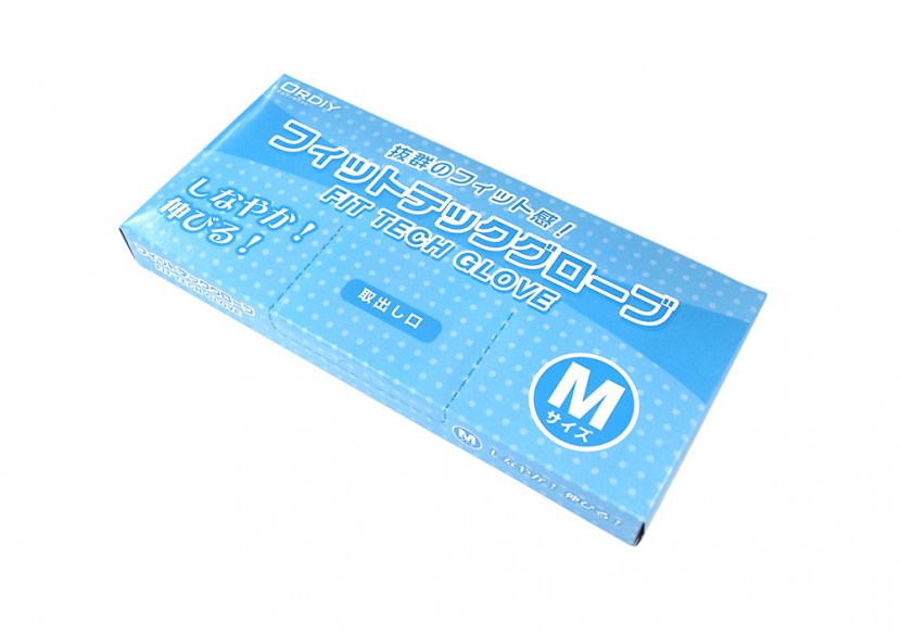 衛生ポリ手袋のパッケージ Mサイズ