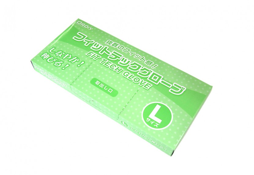 衛生ポリ手袋のパッケージ Lサイズ
