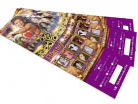 ベリーダンスのチケットデザイン