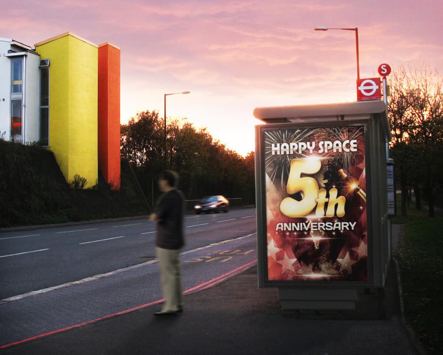 イベント5周年記念のポスターデザイン