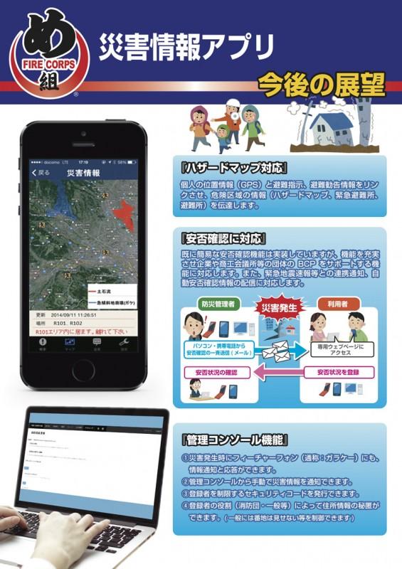 災害情報アプリのパネルデザイン3