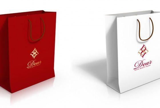 美容室の紙袋デザイン