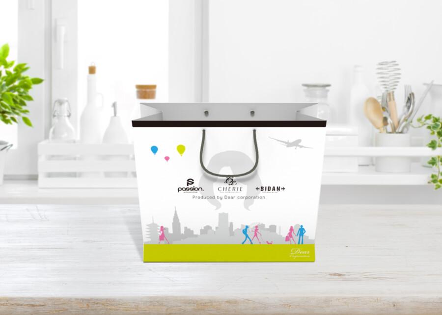 ウィッグブランドの紙袋デザイン作成例2