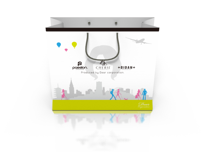 ウィッグ販売用紙袋デザイン
