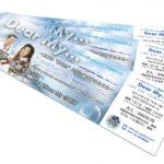ノーマライゼーション啓発コンサートのチケットデザインを制作しました。