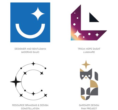 キラキラを表現したロゴ