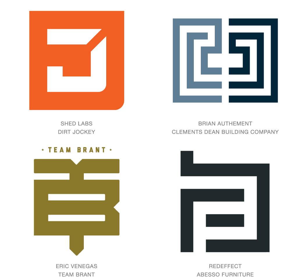 レターブロック風のロゴマーク