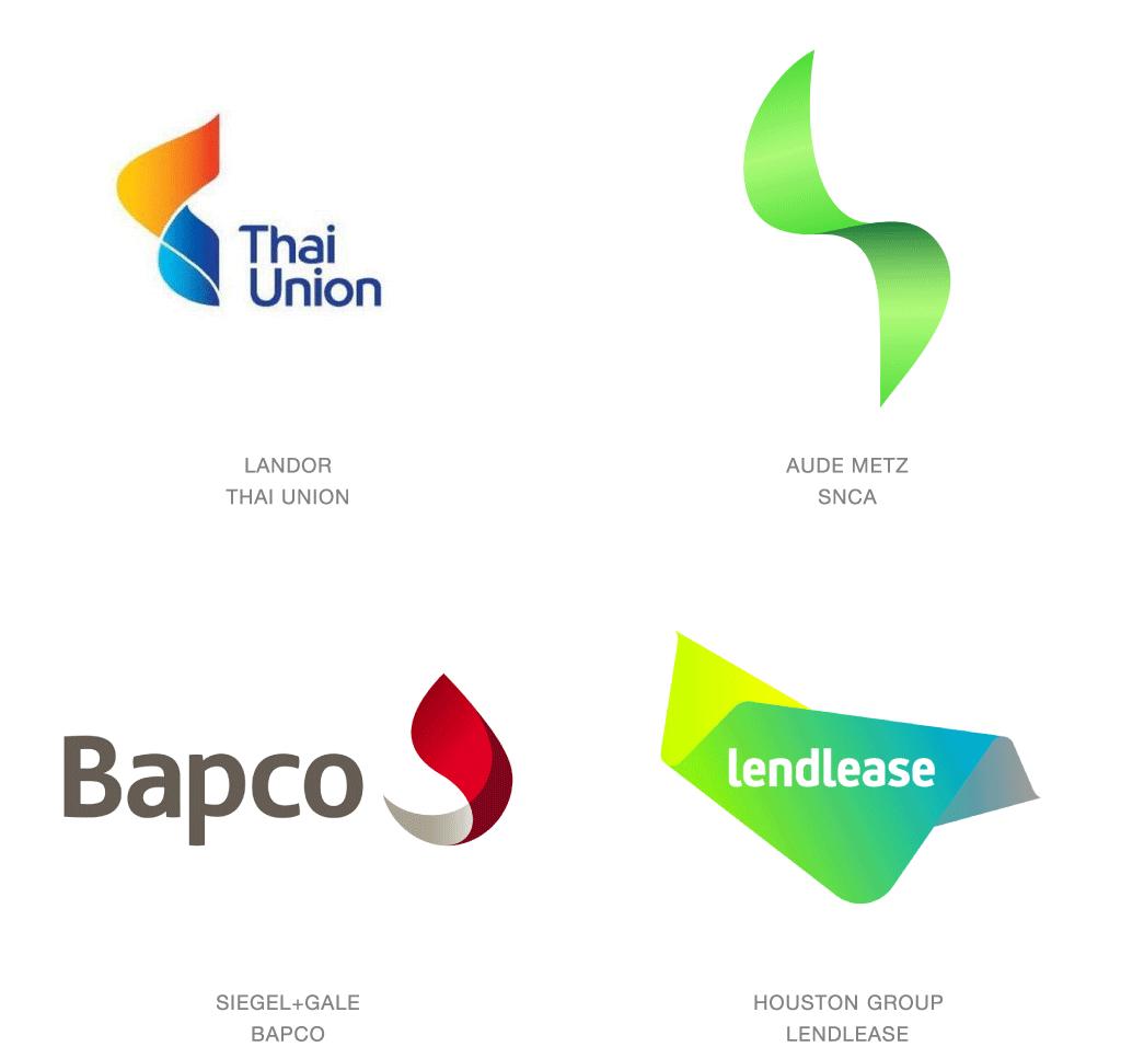 曲線的なロゴデザイン