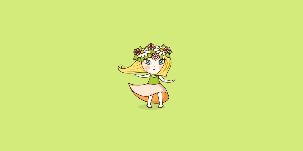 可愛い女性のロゴ