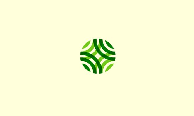 和柄を想起させるロゴ