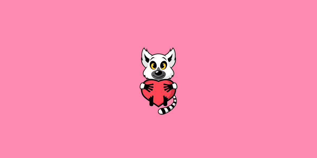 キツネザルのロゴ