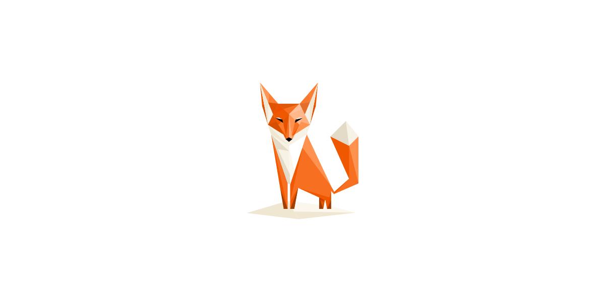 直線的な狐のロゴ