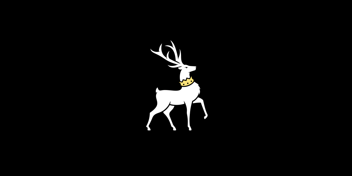 クールな鹿のロゴ