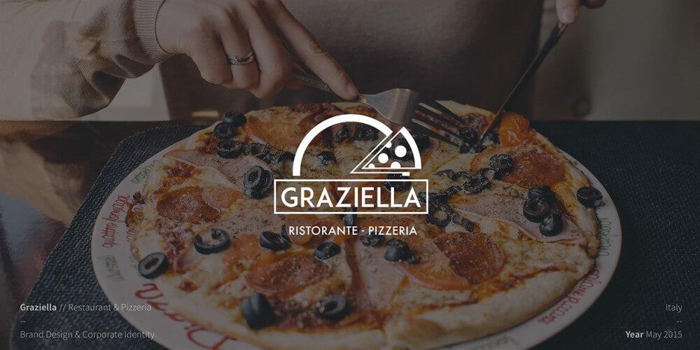 ピザのロゴ