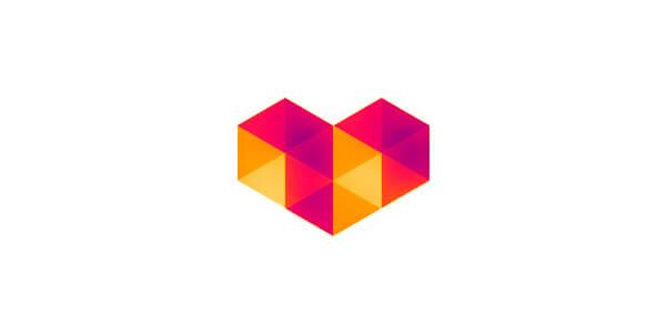 ハート形のロゴ