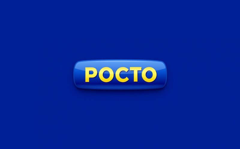立体的なボタン状のロゴ