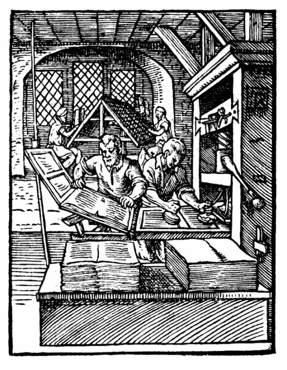 グーテンベルグの活版印刷