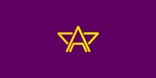 Aを使ったモノグラムロゴ