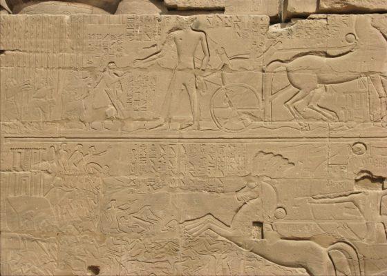 カルナック神殿の壁画