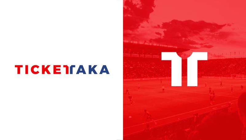 サッカーチケットショップのロゴ制作例