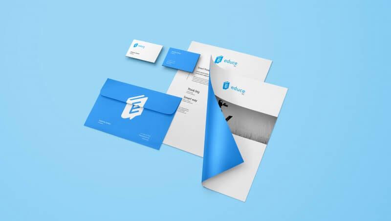 教育関係の企業ロゴ展開例3